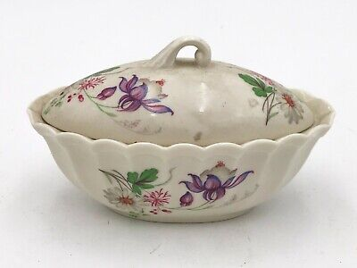 Handmade Irish Pottery Trinket Dish With Lid <t92 • 3.49£