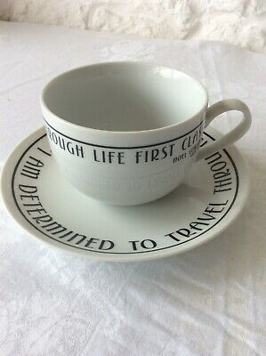 NOEL COWARD Oversize Cup & Saucer By Past Times Made In China • 8.95£