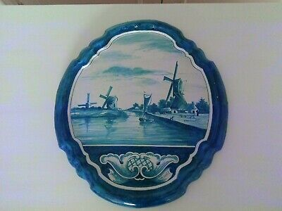A Large 19th Century Delft Wall Plaque • 69£