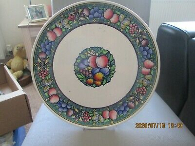 Antique Mintons Rotique Fruits Wall Plaque Plate 12 Inch • 14.99£