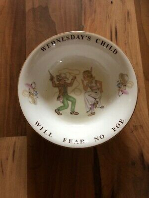 Queens China Birthday Child Wednesdays Child Cereal Bowl • 12.99£