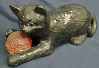 Antique Victorian Bretby Pottery Cat With Red Ball Of Wool 1518  • 32£
