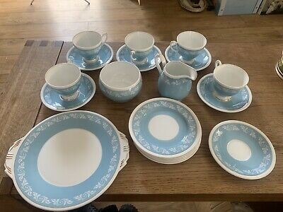 Vintage Aynsley England Bone China Great Condition Baby Blue Afternoon Tea Set • 34.99£