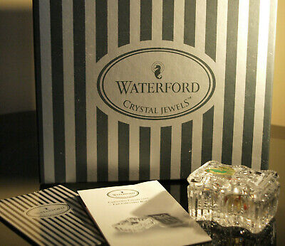 Waterford Crystal Jewels The Christmas Box Mint Made In Ireland • 35£