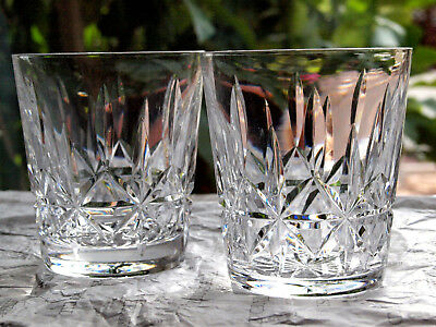 Waterford Crystal Rosslare Tumbler Pair Old Fashioned Vintage Ireland • 55£