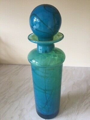 Vintage Mdina Glass Bottle 28cm Tall • 30£