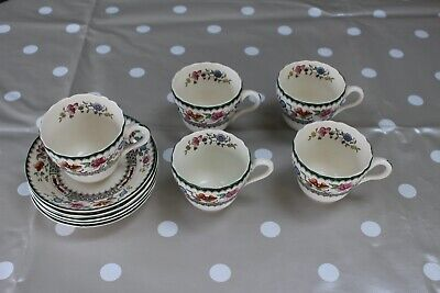Spode Chinese Rose Teacups (5) And Saucers (6) • 30£