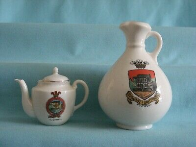2 Goss / Crested Pieces [Inc. Brading Ewer] - Both With HOLYWELL Crest • 3.99£