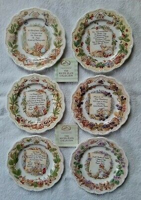 Rare Royal Doulton Brambly Hedge Recipe Plate Collection X 6 • 550£