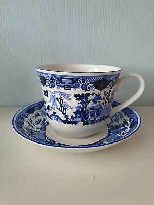 Seville Cermic Bone China Cup & Saucer In The Willow Tree Style  • 1.99£