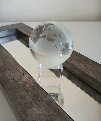 A Nice Small Glass Globe Boxed Display Ornament + Stand. Branded Eyssautier. • 20£
