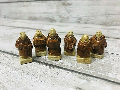 Vintage Wade Whimsies KP Monks Friars Full Set Of 6 Collection Rare • 18.95£