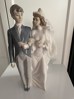 Lovely Nao By Lladro ''Wedding Day Bride & Groom'' Figurine No 1199 Mint • 0.99£