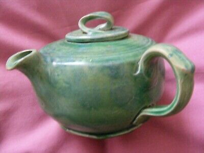 Antique/Vintage Barum Barnstaple 84 Signed Green Pottery Teapot • 49.95£
