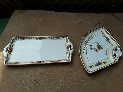 W H Grindley & Co Ltd Rectangular Platter, The Rossall'ivory' Plus One Other. • 7.75£