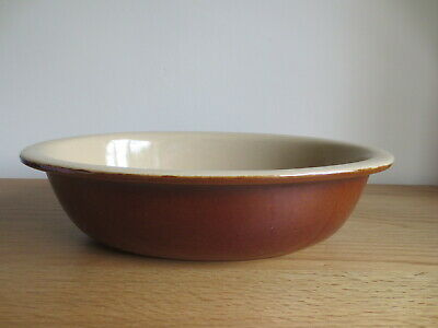 Vintage Pearson's Of Chesterfield Stoneware Large Oval Pie Dish Baking Ovenware • 11.99£