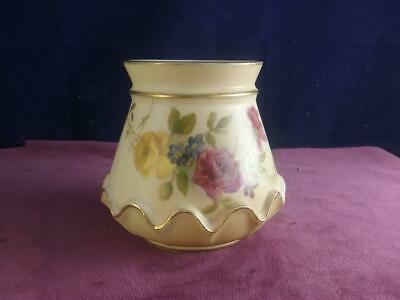 Antique Royal Worcester Blush Ivory Vase  Hand Painted Flowers 991 Dated 1899 • 46.99£