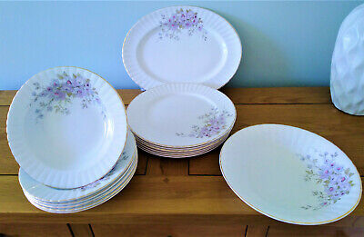 Exquisite Royal Stafford Young Summer Dinnerware Dinner Plates Serving  Bowl Etc • 29.99£