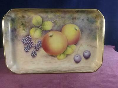 Miniature Tray Hand Painted Fruit  & Signed  D Wilson Former Royal Worcester • 89.99£
