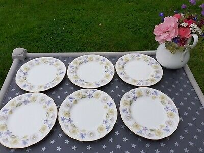 Vintage China Plates X 6 Duchess Spring Days • 7.99£