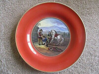 Excellent Prattware Plate - Preparing For The Ride • 13.99£