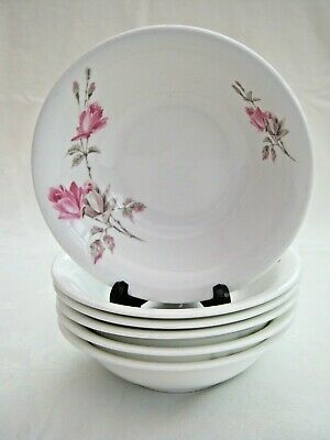 Crown Staffordshire  ~  Fine Bone China  ~  Set Of 6  ~  Cereal Bowls • 4.99£