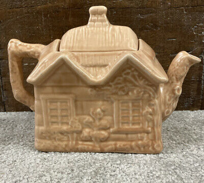 Price Bros Cottage Ware Monochrome Ye Olde Cottage Teapot • 4£