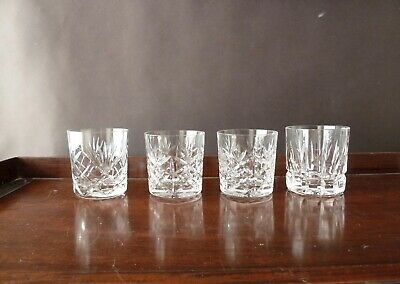 4 Crystal Whisky Glasses Tumblers Mixed Lot 2+1+1 By Royal Brierley Atlantis  • 25£