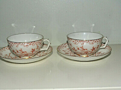Grainger Worcester Royal China Works Tea Cups And Saucers X2 Tea Dinner Service • 24£