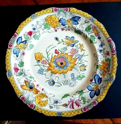 Mason's Ironstone Dinner Plate In The Rare Water Lily Pattern C3859 - 26 Cm Diam • 60£
