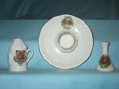 3 Crested Pieces (Inc. Police Lamp) - All With PWLLHELI Crest • 6.99£
