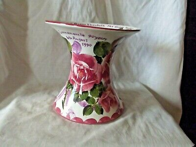 Rare Wemyss Ware Exon Commemorative Vase With Roses & Signed B Adams • 495£