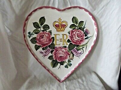 Rare Wemyss Ware Exon Commemorative Heart Shape Tray With Roses Signed B Adams • 495£