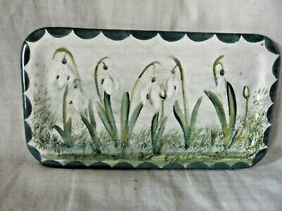 Rare Wemyss Ware Exon Small Pin Tray With Snowdrops & Signed B Adams • 195£