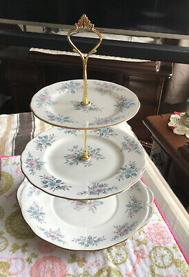 Lovely Vintage Colclough Bone China 3 Tier Cake Stand • 13.99£