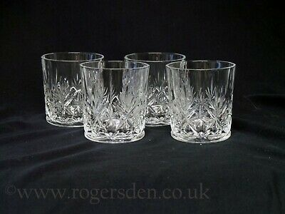Crystal Glass  A Set Of Four Whisky Tumblers • 17.99£