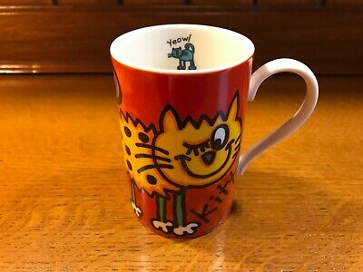 Vintage Dunoon Stoneware  Yeowl Kitty  Mug Designed For Whittard Of Chelsea • 10£