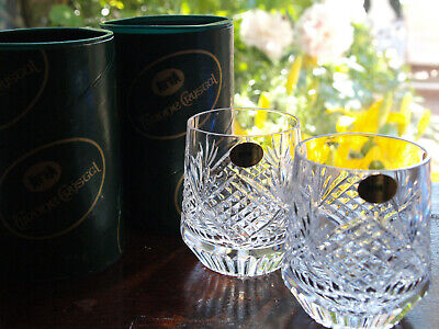 Tyrone Crystal Slieve Donard Tumbler Pair Vintage Mint Made In Ireland • 49£