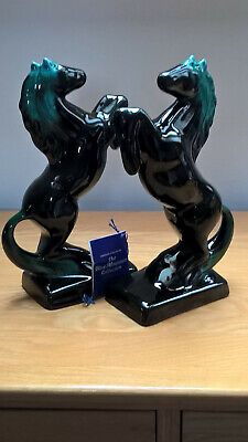 Blue Mountain Canadian Pottery Prancing Horses Pair • 45£