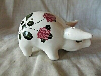 Vintage & Rare Wemyss Bovey Plichta Pomander Pig With Flowering Clover • 75£