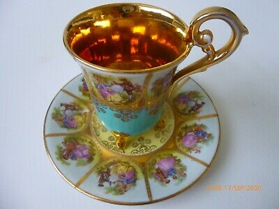 Vintage Cup Saucer Love Story Cabinet Style Adler Continental • 5£