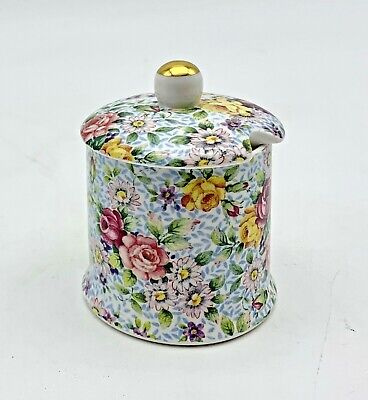 Chintz JAM JAR, Eberling And Reuss, Made In England • 21.35£