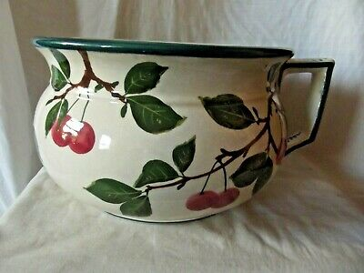 Antique Original Robert Heron & Sons Wemyss Potty Bowl With Cherry's Design • 290£
