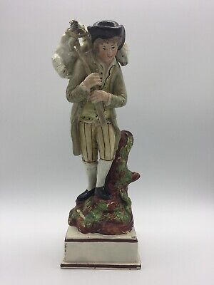 Early  Staffordshire Pearlware Figure, The Lost Sheep, C 1795-1810 • 325£