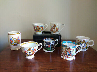 7 Collectable Commemorative Cups/Beakers/Mugs  - 1935 To 2002 • 11.99£