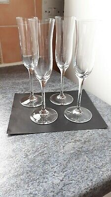 4 Dartington Crystal Toasting Champagne Flutes Signed  • 9.99£