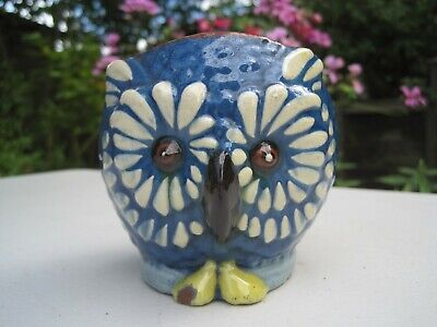 Antique H & M Exeter Hart & Moist Torquay Devon Art Pottery Owl Vase • 49.99£
