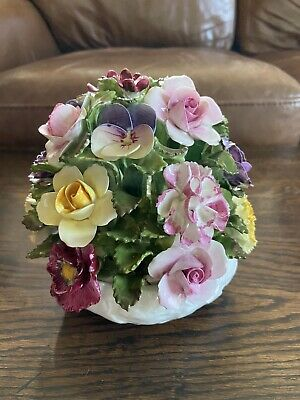 Vintage Aynsley Fine Bone China Hand Modelled & Painted Posy Floral Bouquet • 4.20£
