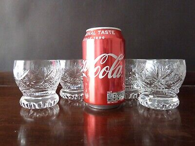 5 Vintage Crystal Whisky Tumblers Glasses By Webb1960's H 7,1cm • 23£