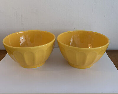 Varages 2 Vintage Large Yellow Fluted Bowls. Rare. • 0.99£
